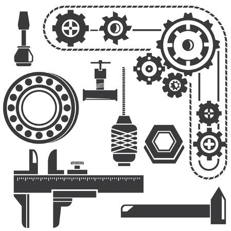 calipers: mechanical tools, mechanical gadget, gear
