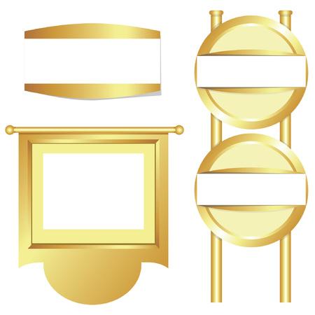 fascinação: sinalização, cartaz de ouro Ilustração