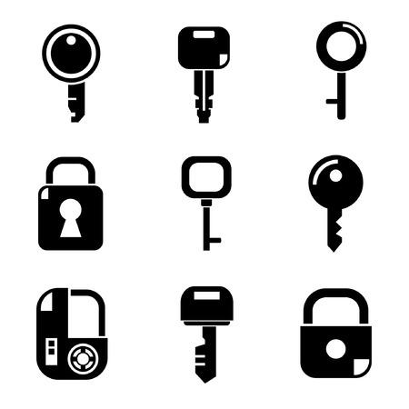 Log Out: key icons