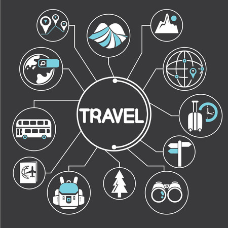 mapping: travel network, mind mapping, info graphic
