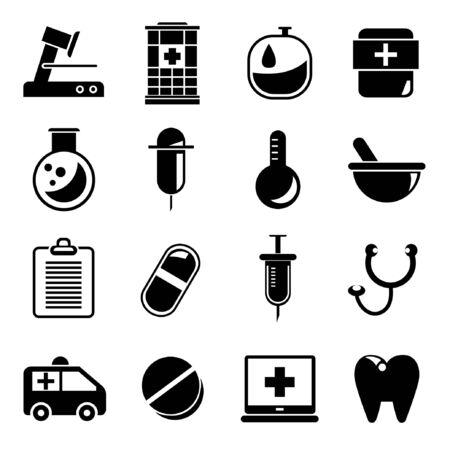 drugstore: medical icons