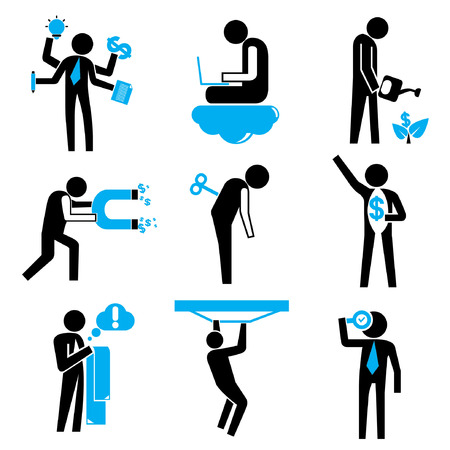 business people, business icons Vector