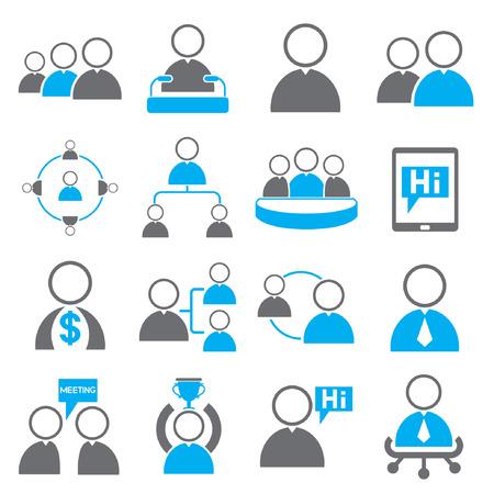 recursos financieros: Iconos de la administración rganización y de recursos humanos Vectores