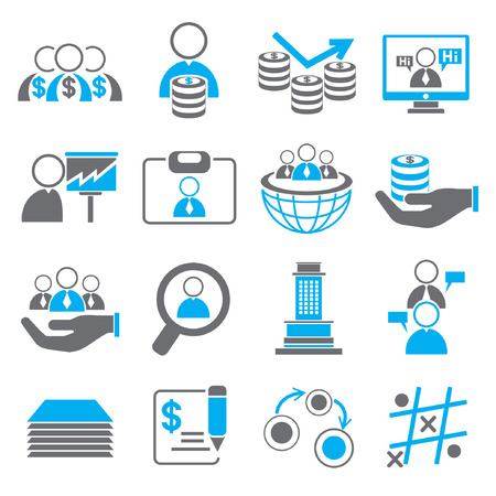 business roles: organization and human resource management icons