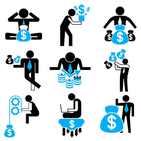 action fund: business people, money concept Illustration