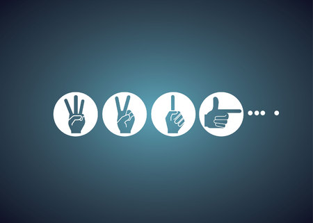 hand sign, loading concept Vector