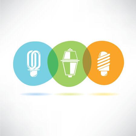 energy efficient: light bulb concept