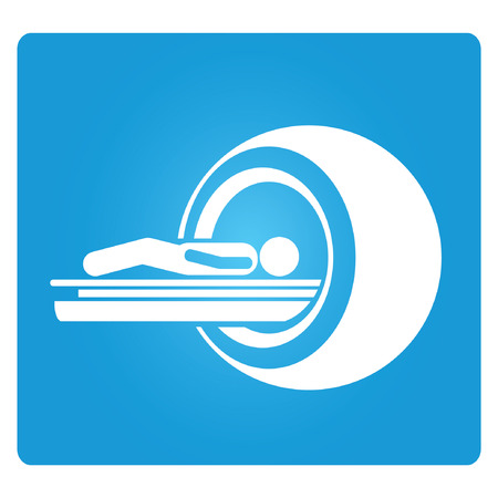 MRI machine, CT scanner Vector