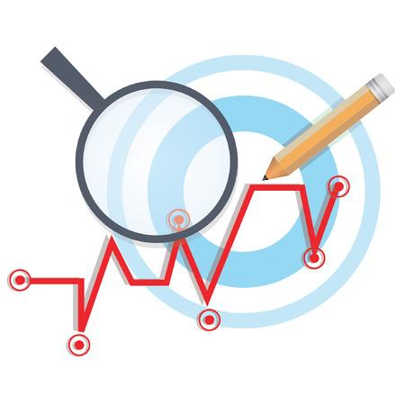 business figures: marketing analysis Illustration