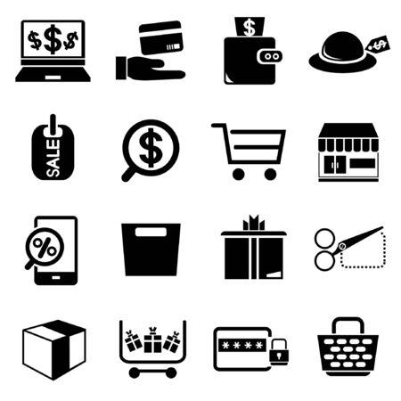e commerce: shopping, e commerce icons