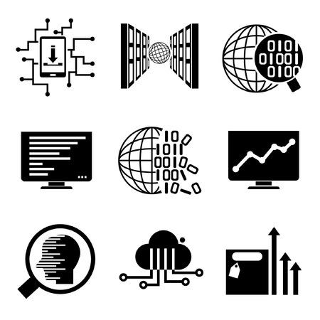 analyse de données, analyse des données, les icônes de réseau