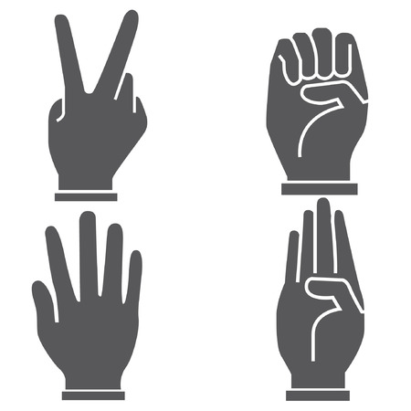 hold up: set of hand in different postures