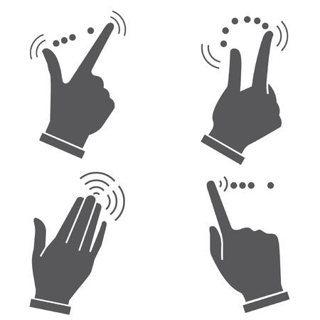 gesto con la mano para dispositivos táctiles