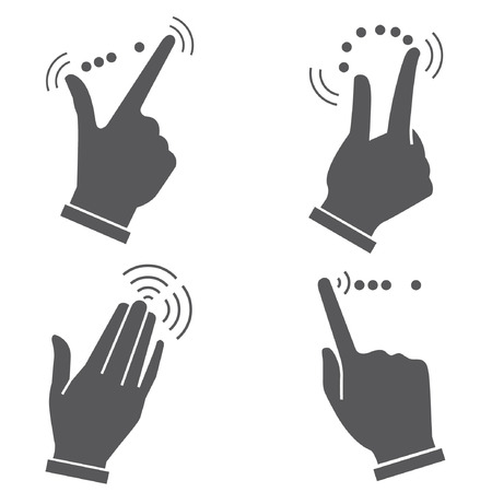 gesture hand for touch devices Illustration