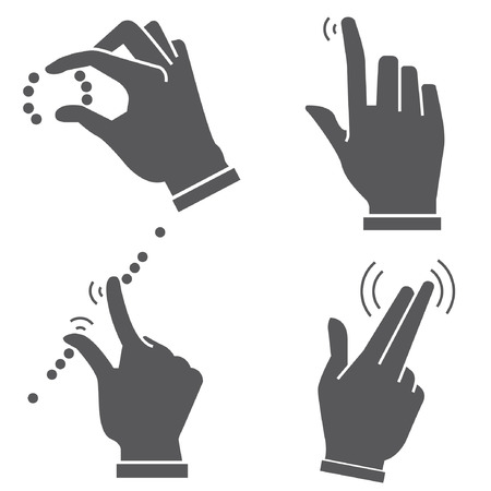 hand touch: gesture hand for touch devices Illustration