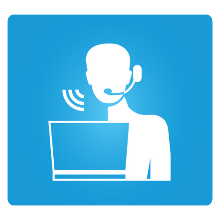 headset symbol: customer service Illustration