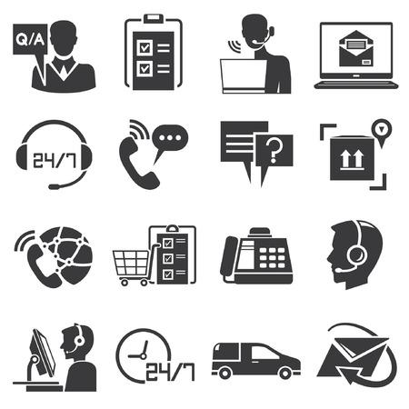 Call center service iconen Stockfoto - 26229140