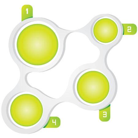 process diagram: diagramma di processo, modello, tema verde Vettoriali