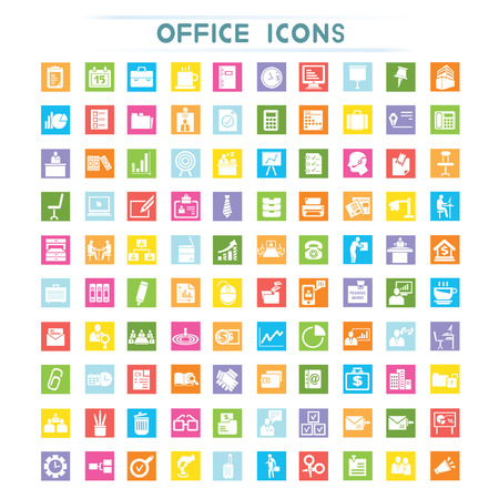 furniture shop: office icons