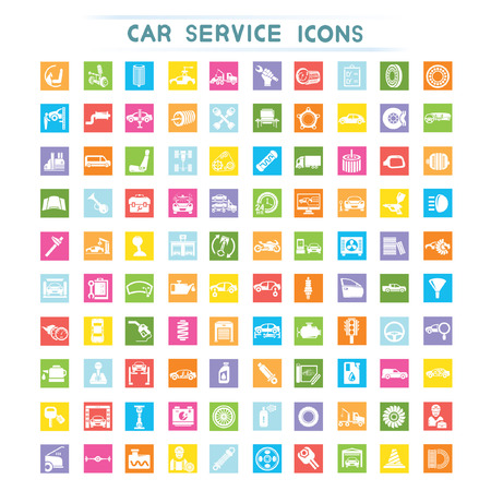 automotive repair: car service icons