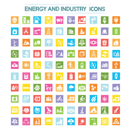energy, power icons, industry icons Vector
