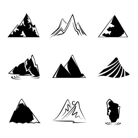 rocky mountain: mountain icons