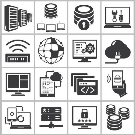 database, network icons