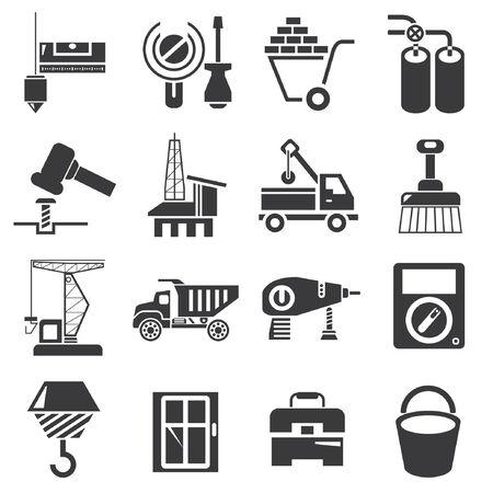 truck crane: construction icons