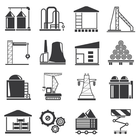 warehouse building: industrial building Illustration