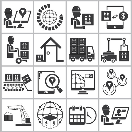 logistic icons, cargo, shipping icons