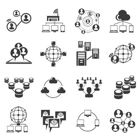 communication icons: communication icons, network icons Illustration