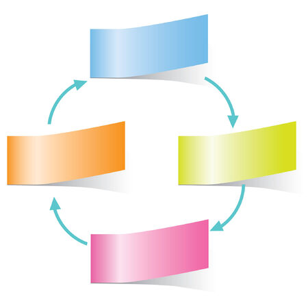 Sticky Note Diagram Template Royalty Free Cliparts Vectors And