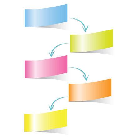sticky note: sticky note diagram, template Illustration