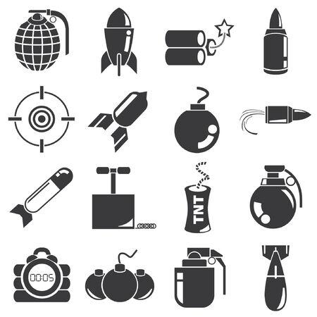 bombshell: weapon, bomb icons Illustration