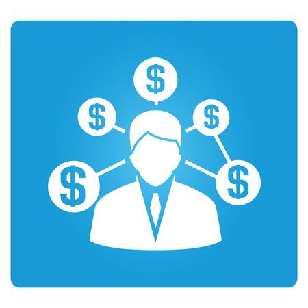 banker: banker, financial man Illustration