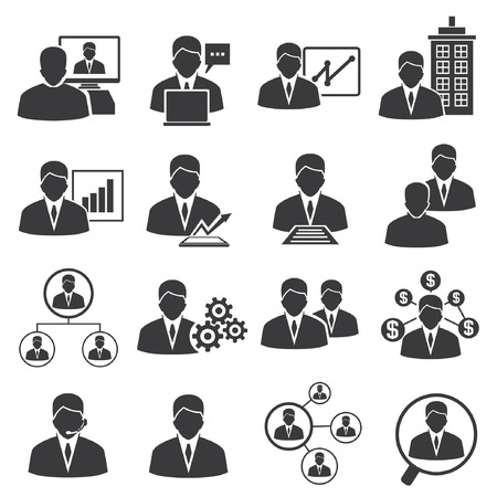 business people, business management icons Stock Vector - 26229222