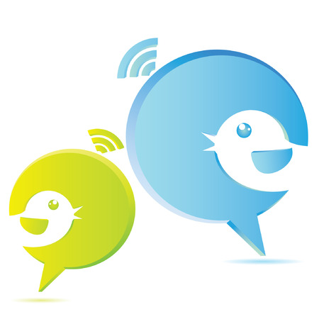 roddel, tekstballon, vogel tekstballon begrip