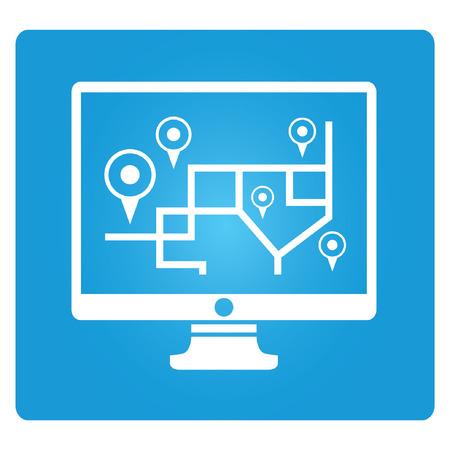 venue: gps monitor, blue square button