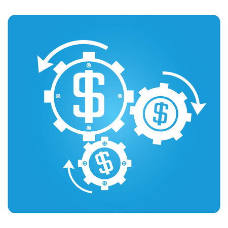 resourceful: financial management, blue square button