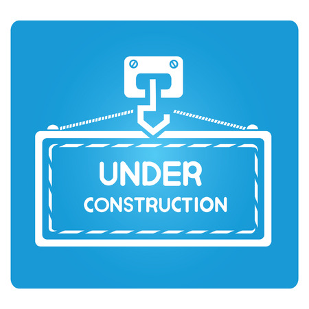 building inspector: under construction, blue square button
