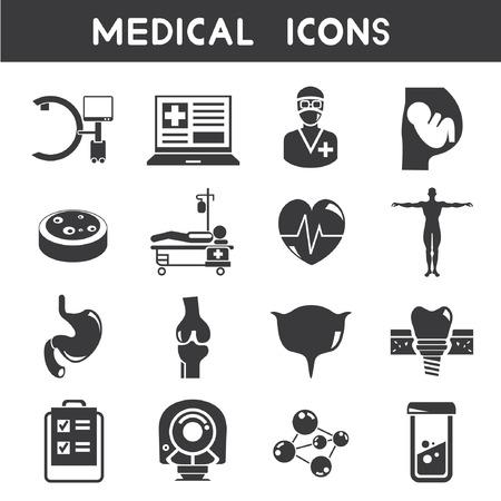 iconos medicos: los iconos de m�dicos Vectores