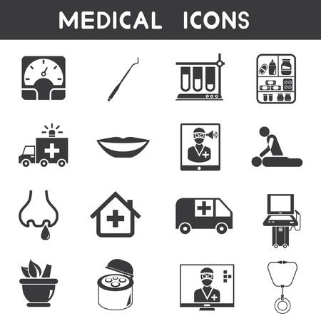 nursing home: medical icons