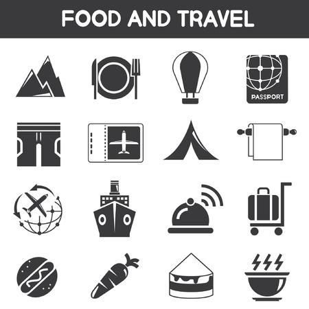 sip: alimentos y los iconos de viajes
