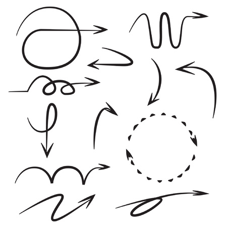 sketch, comic arrows Vector