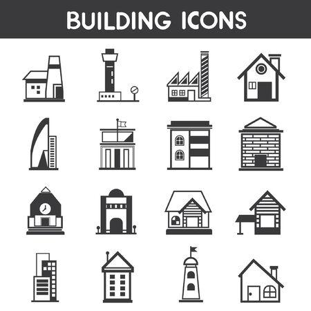 formatting: building icons, map elements Illustration