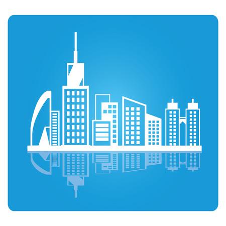 burgh: city skyline, downtown Illustration