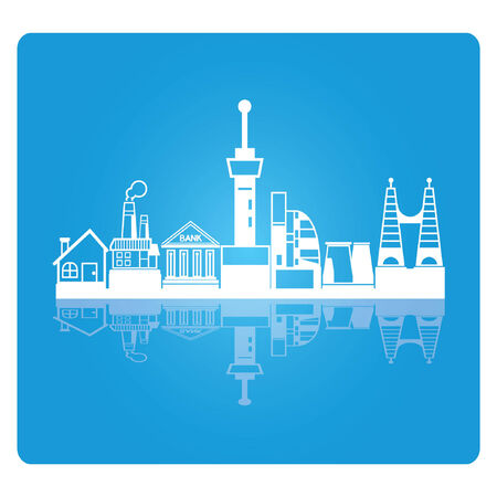 uptown: city skyline, downtown Illustration