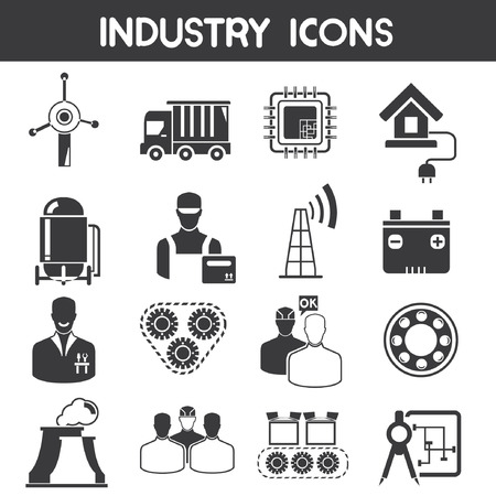 factory line: industry icons
