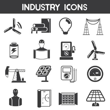 contador electrico: iconos de la industria