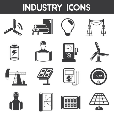 button batteries: industry icons